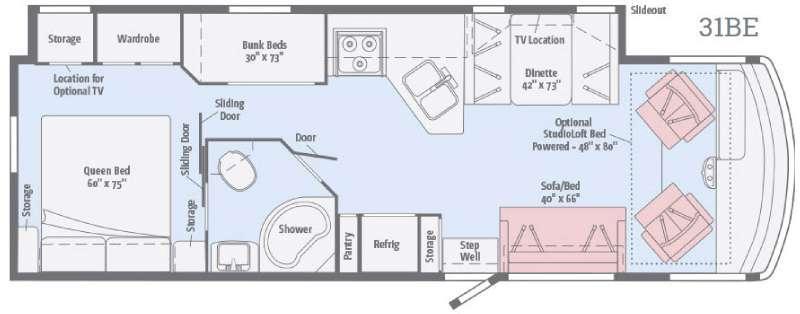 Floorplan - 2017 Itasca Sunstar 31BE