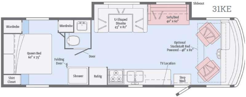 Floorplan - 2017 Itasca Sunstar 31KE