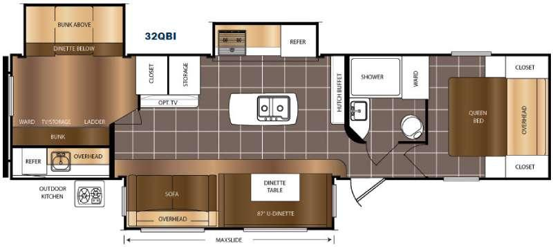 Floorplan - 2016 Prime Time RV Avenger 32QBI