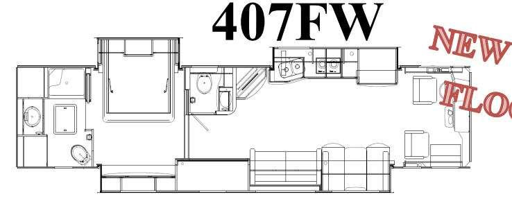 Floorplan - 2016 Coachmen RV Sportscoach Cross Country RD 407FW