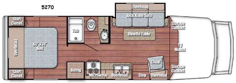 Floorplan - 2016 Gulf Stream RV BT Cruiser 5270