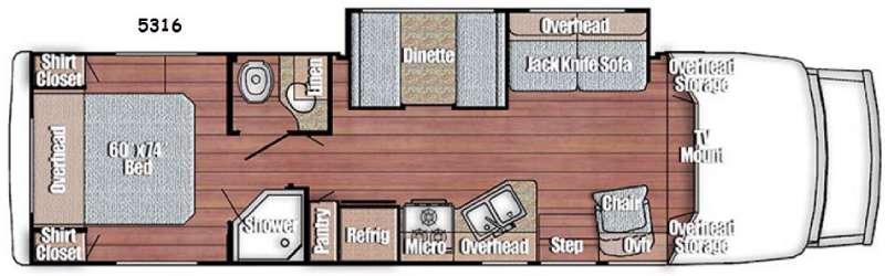 Floorplan - 2016 Gulf Stream RV BT Cruiser 5316