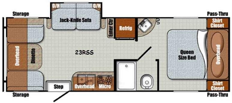 Floorplan - 2016 Gulf Stream RV Vintage Cruiser 23RSS