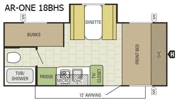 Floorplan - 2016 Starcraft AR-ONE 18BHS