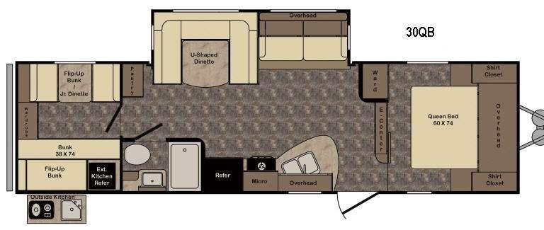Floorplan - 2016 CrossRoads RV Longhorn LHT30QB Texas Edition