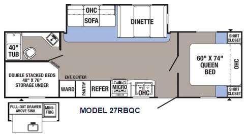 Puma XLE 27RBQC Floorplan