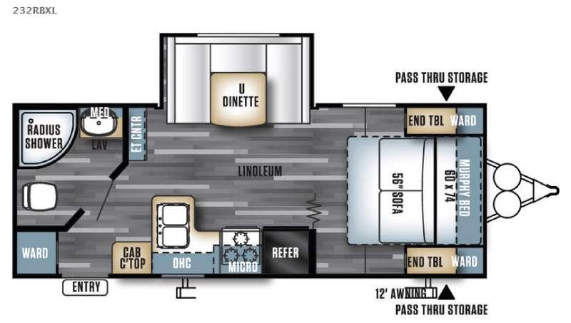 Floorplan - 2016 Forest River RV Salem Cruise Lite 232RBXL