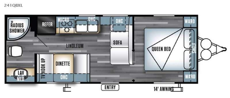 Floorplan - 2016 Forest River RV Salem Cruise Lite 241QBXL