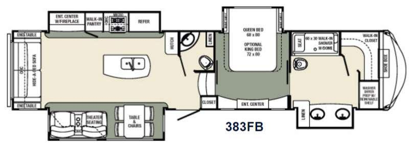 Floorplan - 2016 Palomino Columbus Compass F383FB