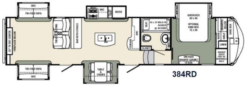 Floorplan - 2016 Palomino Columbus Compass F384RD