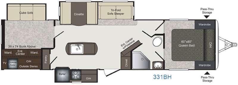 Laredo 331BH Floorplan Image