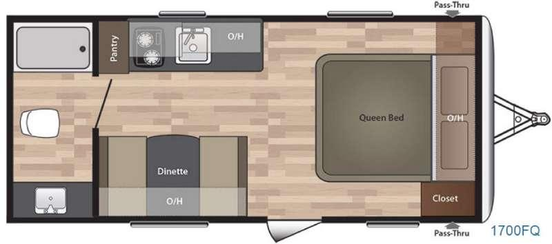 Floorplan - 2016 Keystone RV Summerland 1700FQ