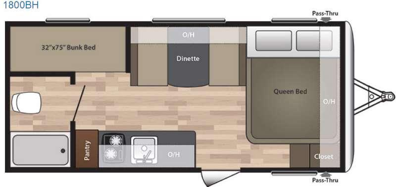 Floorplan - 2016 Keystone RV Summerland 1800BH