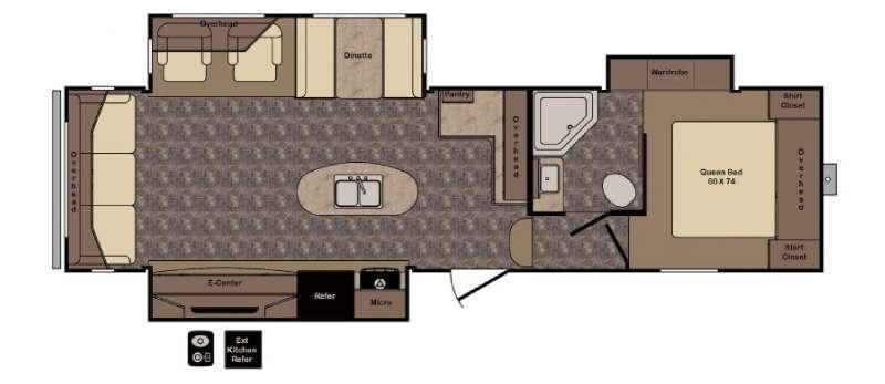 Floorplan - 2016 CrossRoads RV Longhorn ReZerve LFZ29RL