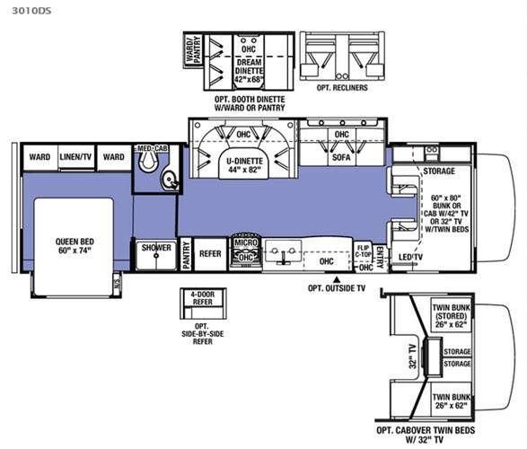 Sunseeker 3010DS Ford Floorplan Image