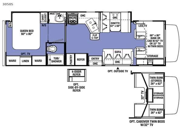 Floorplan - 2017 Forest River RV Sunseeker 3050S Ford