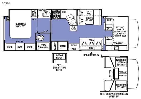 Sunseeker 3050S Ford Floorplan Image