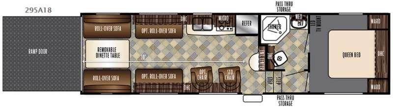 Floorplan - 2016 Forest River RV Vengeance Super Sport 295A18