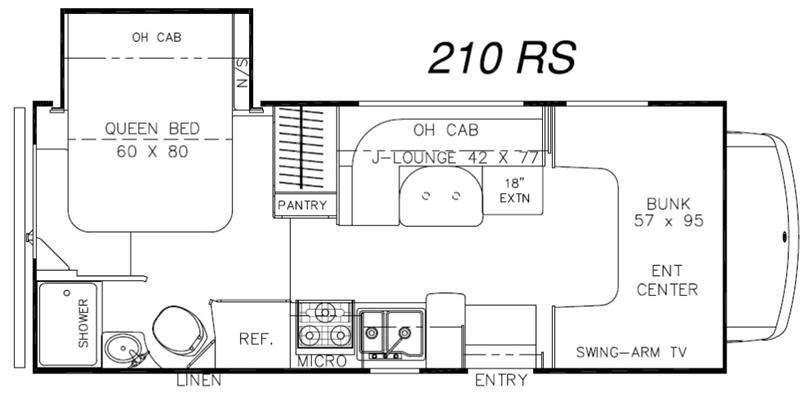 Leprechaun 210RS Ford 450 Floorplan Image