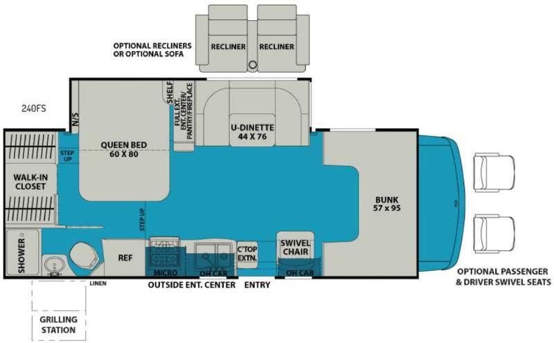 Leprechaun 240FS Ford 450 Floorplan Image