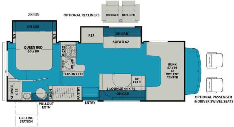 Leprechaun 260DS Ford 450 Floorplan Image
