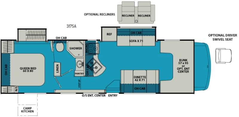 Leprechaun 317SA Ford 450 Floorplan Image