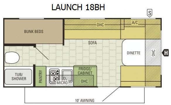 Launch 18BH Floorplan Image
