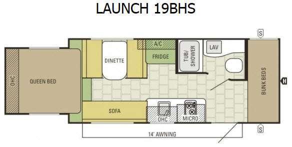 Launch 19BHS Floorplan Image