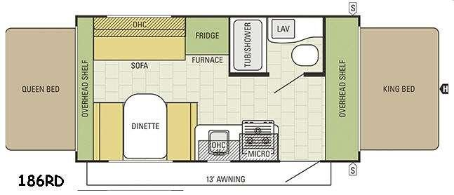 Travel Star 186RD Floorplan Image