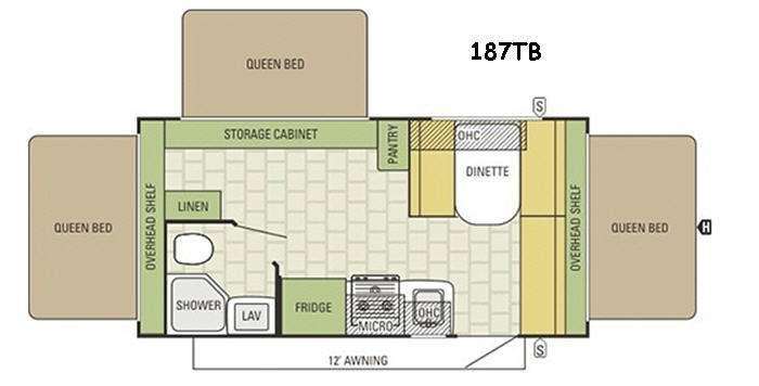 Travel Star 187TB Floorplan Image