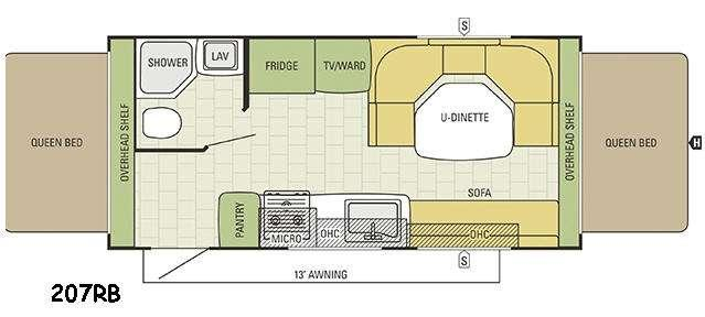 Travel Star 207RB Floorplan Image