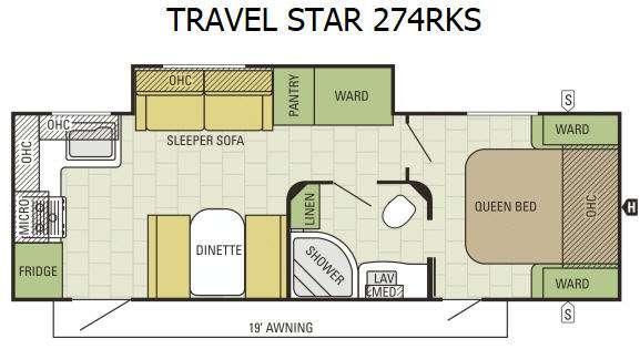 Travel Star 274RKS Floorplan Image
