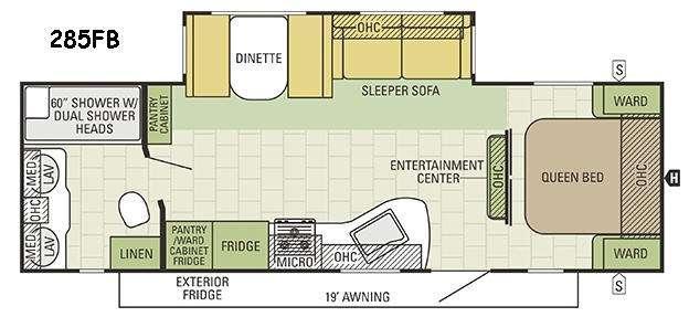 Travel Star 285FB Floorplan Image