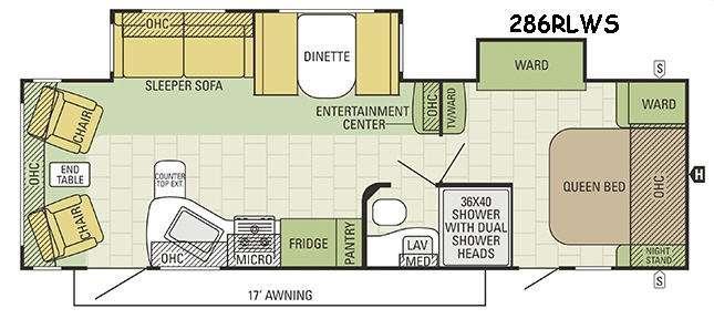 Travel Star 286RLWS Floorplan Image