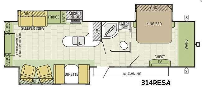 Travel Star 314RESA Floorplan Image