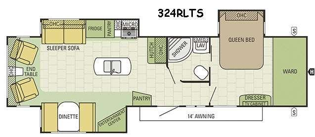 Travel Star 324RLTS Floorplan Image