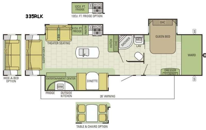 Travel Star 335RLK Floorplan Image