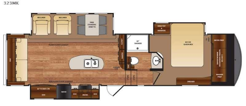 Floorplan - 2016 Forest River RV Wildcat 323MK