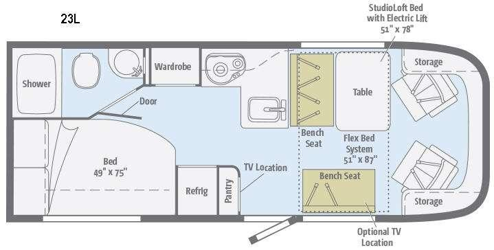 Trend 23L Floorplan Image