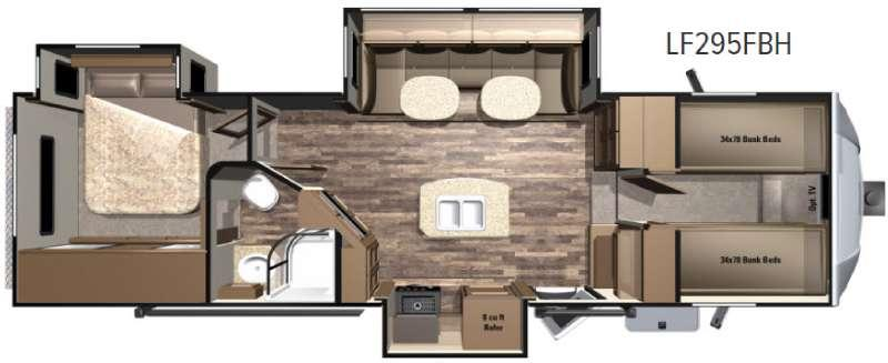 Floorplan - 2017 Highland Ridge RV Open Range Light LF295BH