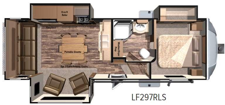 Floorplan - 2017 Highland Ridge RV Open Range Light LF297RLS