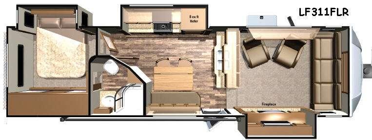 Open Range Light LF311FLR Floorplan Image