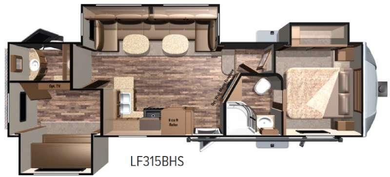 Open Range Light LF315BHS Floorplan Image