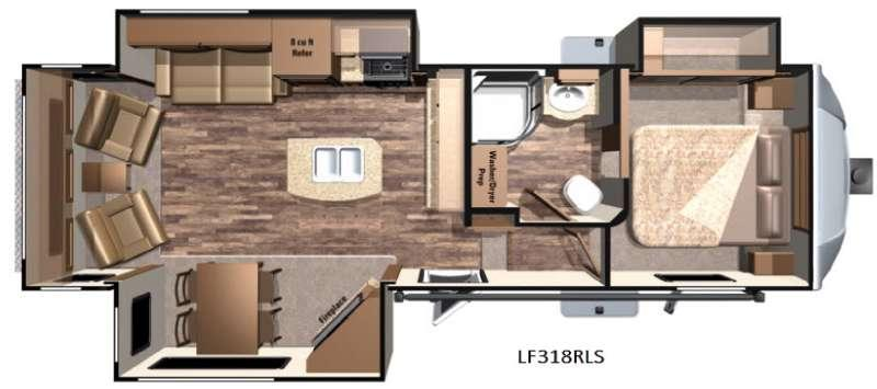 Open Range Light LF318RLS Floorplan Image