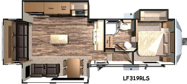 Floorplan - 2017 Highland Ridge RV Open Range Light LF319RLS