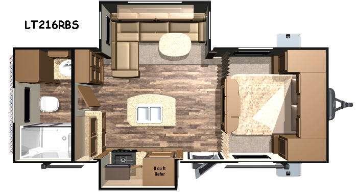 Open Range Light LT216RBS Floorplan Image