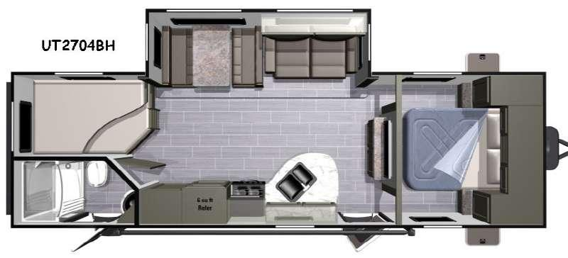 Floorplan - 2017 Highland Ridge RV Open Range Ultra Lite UT2704BH