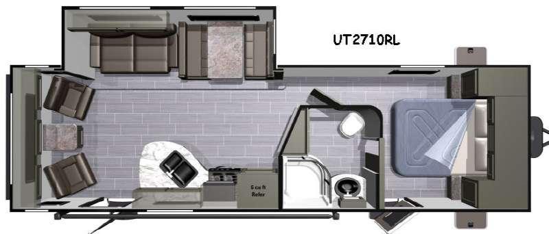 Floorplan - 2017 Highland Ridge RV Open Range Ultra Lite UT2710RL