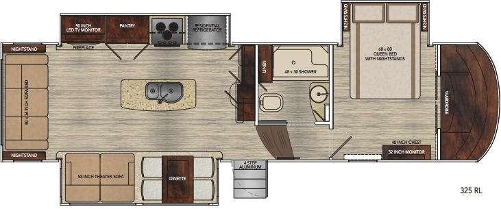 Floorplan - 2016 Vanleigh RV Vilano 325RL