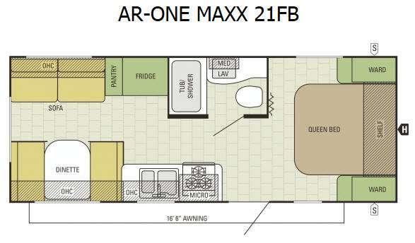 AR-ONE MAXX 21FB Floorplan Image